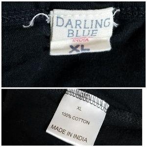 Darling Blue Tops - Darling Blue Dinosaur Tee Shirt Black White XL